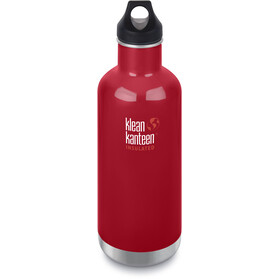 Klean Kanteen Classic Vacuum Insulated Bottle Loop Cap 946ml, mineral red